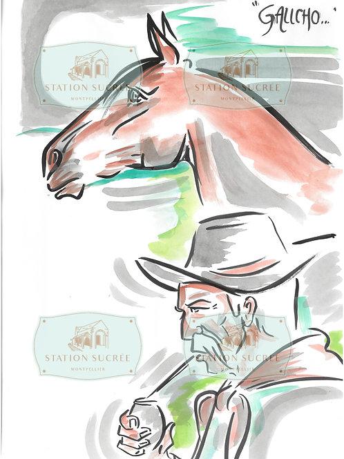 Peinture en Papier - El Gaucho (3)