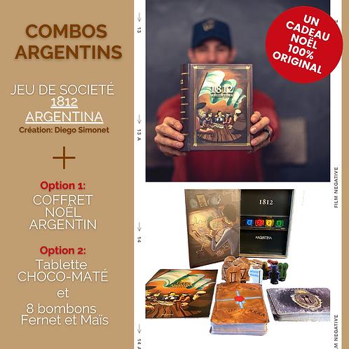 COMBO ARGENTIN: CHOCO-MATE +BONBONS +JEU DE SOCIÉTÉ