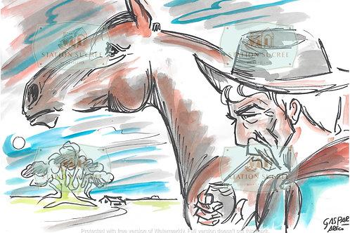 Peinture en Papier - El Gaucho (2)