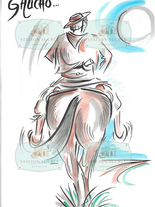Peinture en Papier - El Gaucho