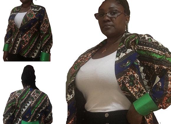 Women's African Print Blazer