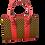Thumbnail: Afrikan Print Tote Handbag