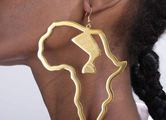 Queen Nefertiti Africa Earrings