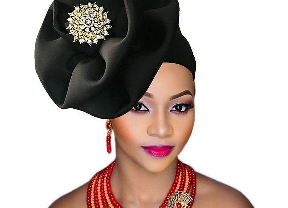 African Bejeweled Flower Hat