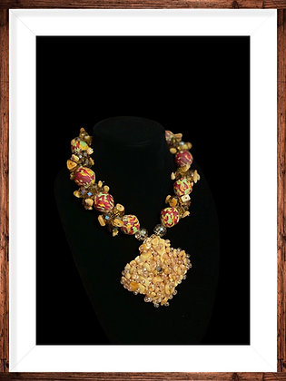Handcrafted Elegant Statement Necklace and Earrings