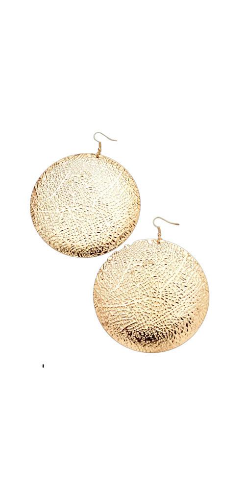 Big Round Dangle Earrings