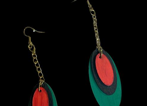 Laser Cut Pan African Earrings
