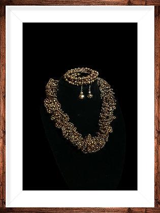 Elegant Beaded Statement Necklace Set