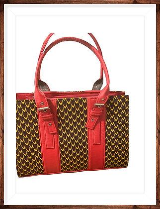 Afrikan Print Tote Handbag