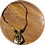 Thumbnail: Adinkra Symbol Wooden Pendant Necklace