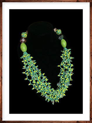 Afrikan Handcrafted Beaded Statement Necklace