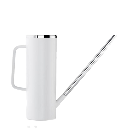 White and Stainless Watering Vessel