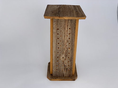 Four-Sided Native Bee Tower