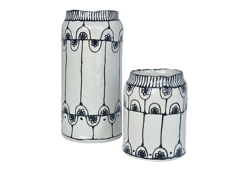 Flora- Ceramic Hand-Painted Glazed Vase