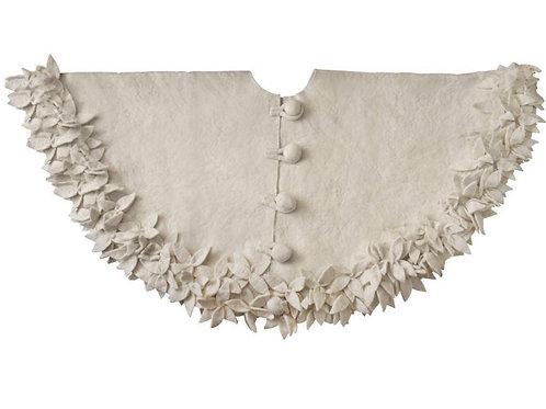 HandFelted Wool Tree Skirt- Cream White