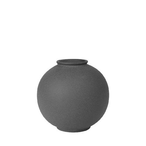 Porcelain Round Vase Charcoal