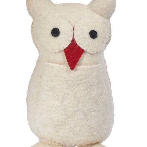 Hand-Felted Owl Tree Topper