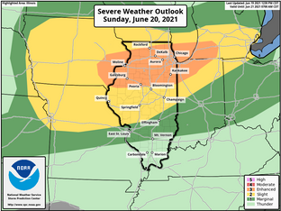 SEVERE STORMS POSSIBLE ON DAD'S DAY....