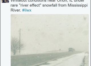 AMAZING! RIVER EFFECT SNOW HITS PARTS OF THE QCA...
