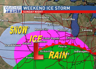 Potential Ice Storm Late This Weekend