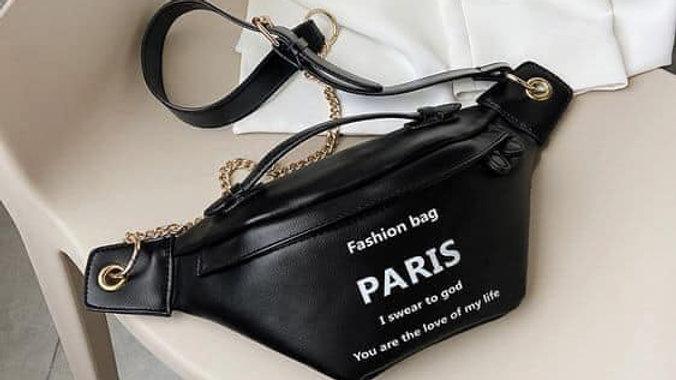 Paris Fashion Waist Pouch (Black)