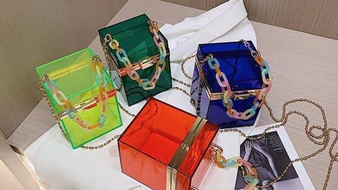 Cubed Translucent Fashion Purse