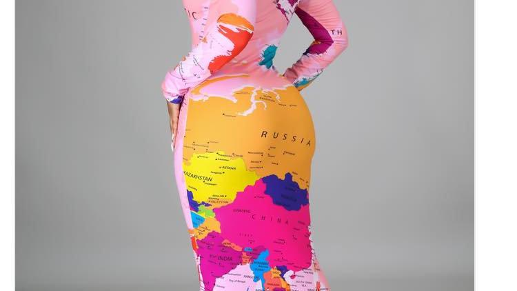 World Map Fashion Dress