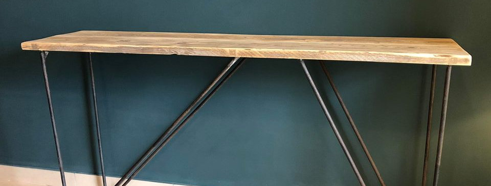Rustic Hairpin Console