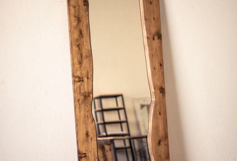 Live Edge Look Floor Mirror