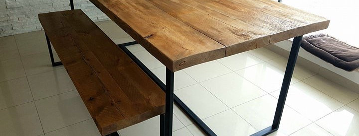 Industrial Dining Table Set.