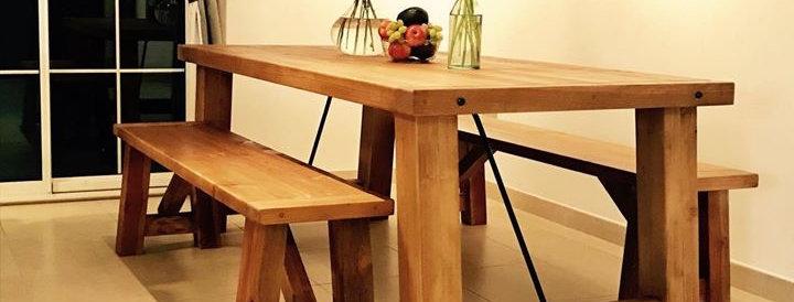 Chunky Farmhouse Table Set