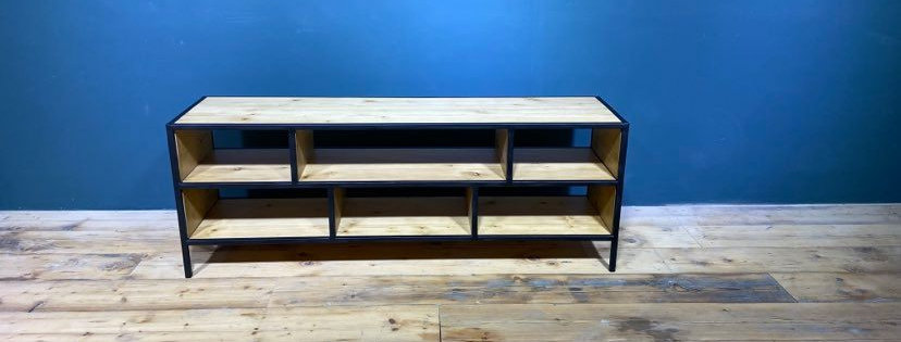 Industrial Shelving Console
