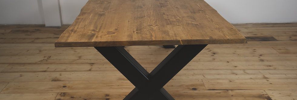 Industrial X-Legs Dining Table