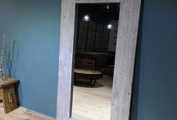 Reclaimed Floor Mirror - Gray Washed