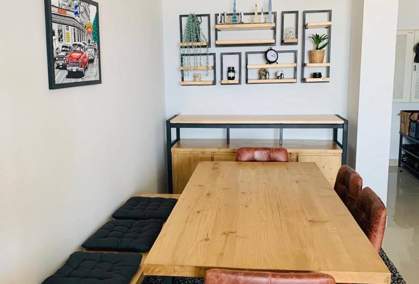 Industrial Dining Table Set - 102