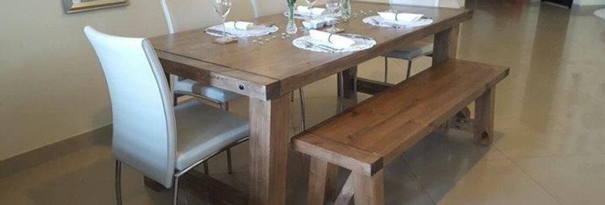 Chunky Farmhouse Table Set - 102