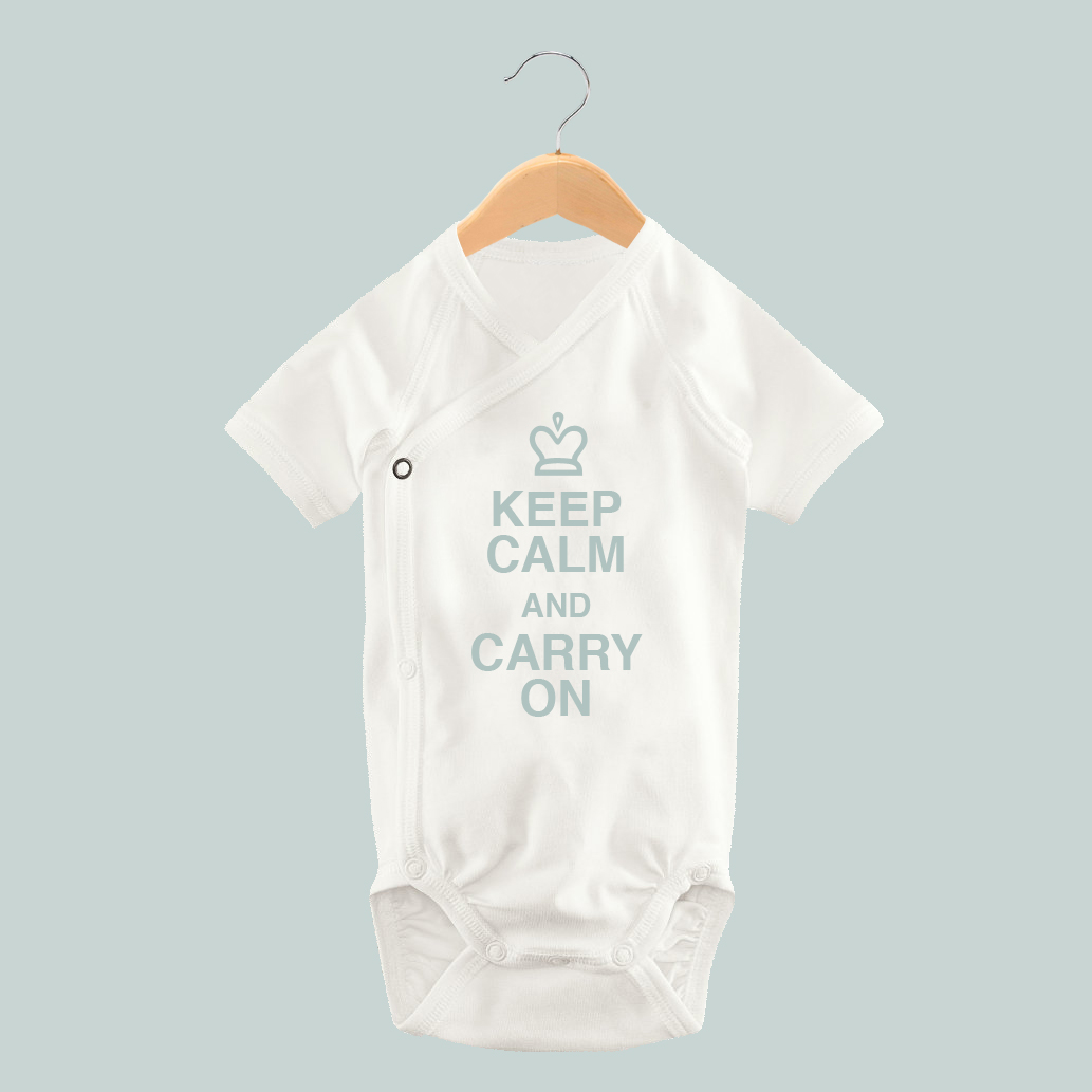 Blue Keep Calm Onesie