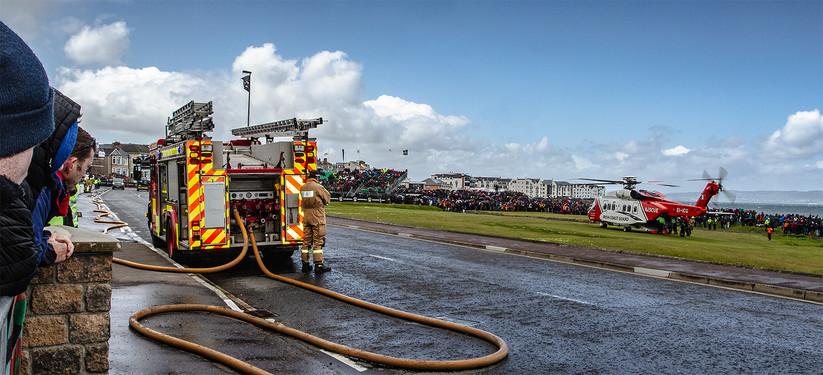 COLOUR - Airlift at NW200 by Keith Malcolm (10 marks)