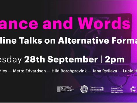 Tanec & slovo - Online hovory o alternativních formátech