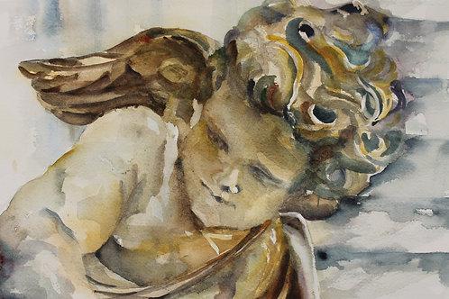 Siena Angel Looking Down