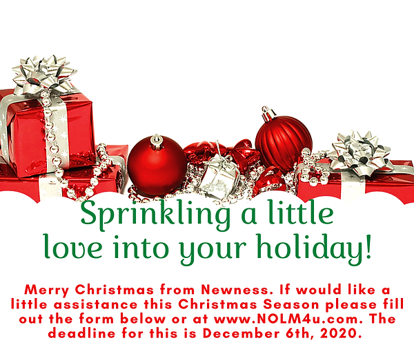 Merry Christmas from Newness. if need of