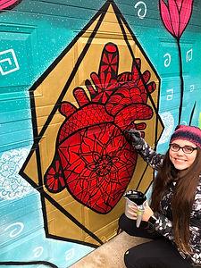 Zentangle Tropical Murals by Amadoodle -October 2020 in Montreal,Canada.