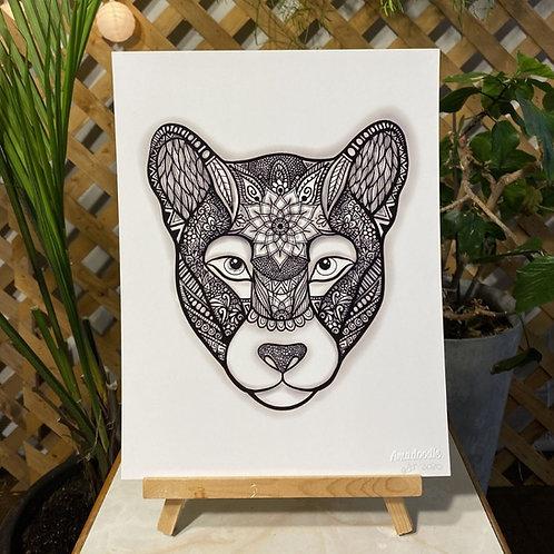 Zentangle Puma