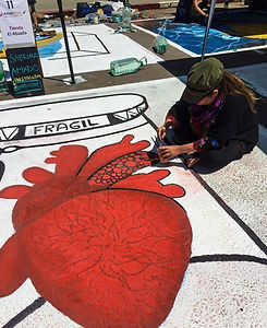 Amdoodle participated in the chalk street art contest in Atlántida(Uruguay) during January 2020.