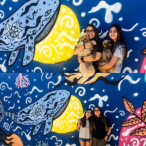 Ocean Mural by Amadoodle and Vito - her little cousin. February 2020 in Uruguay.