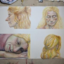 Figure life painting