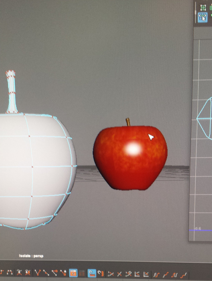 Apple Model - Low poly