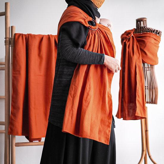 Burnt Orange Linen Ring Sling