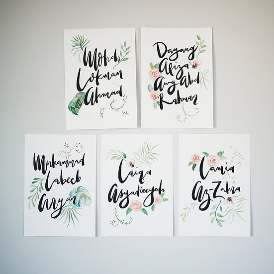 Custom Brush Lettering (1 piece)
