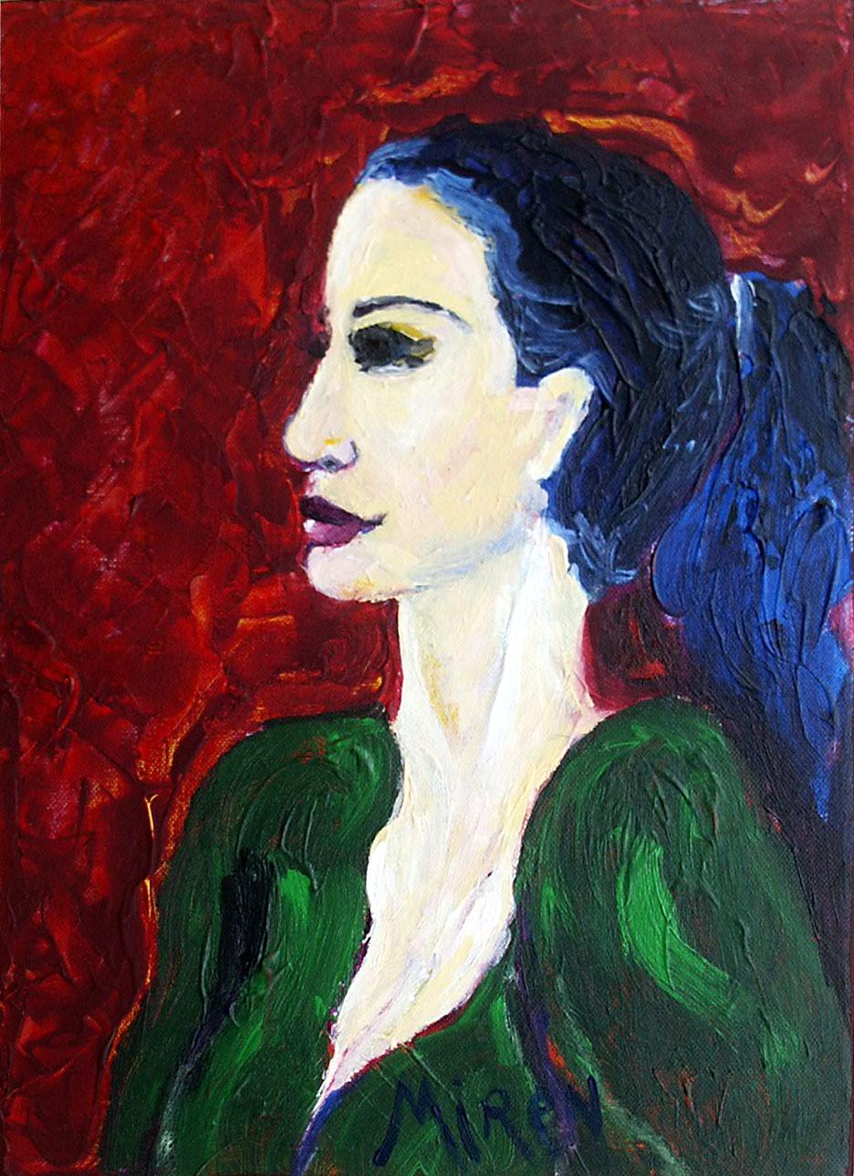 portrait rouge